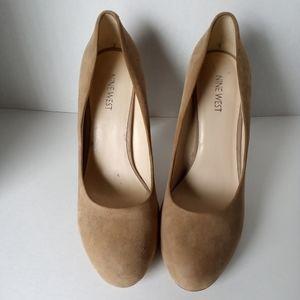 Nine West Nude Velvet Shoes